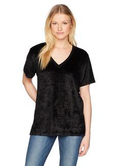 Michael Stars Women's Vali Velvet Short Sleeve V-Neck Slouchy Tee  S