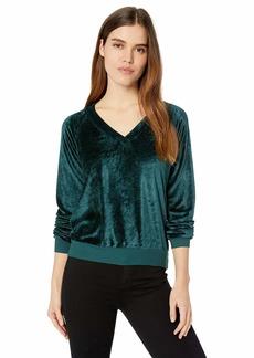 Michael Stars Women's Velvet Long Sleeve V-Neck Pullover