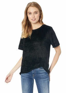 Michael Stars Women's Velvet Short Sleeve Crew Neck Tee
