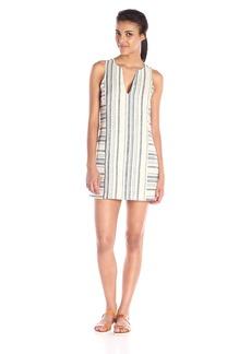 Michael Stars Women's Vertical Stripe Linen Sleeveless Dress with Pockets