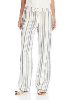 Michael Stars Women's Vertical Stripe Linen Wide Leg Pant