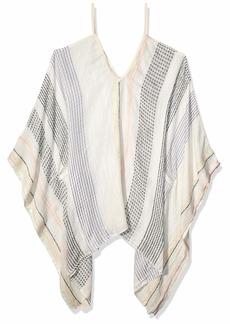 Michael Stars Women's Zoey Avalon Yarn Dye Handkerchief Hem Coverup