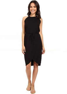 Michael Stars Wrap Front Halter Dress