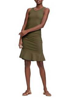 Michael Stars Zaria Sleeveless Shirred Flounce Dress