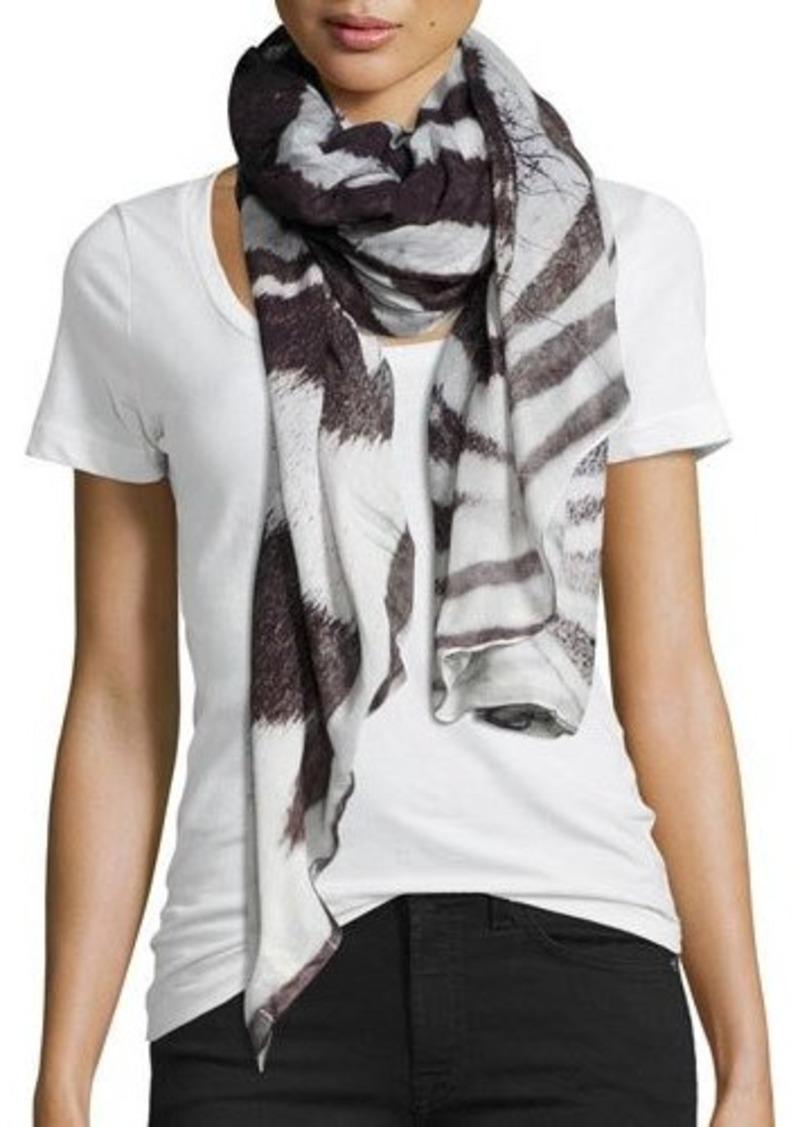 Michael Stars Zebra-Print Wrap Scarf