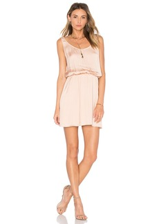 Michael Stars Zoey Satin Double Scoop Neck Dress