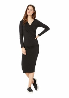 Michael Stars Mikaela Jules Jersey Long Sleeve Crossover Dress