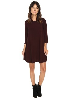 Michael Stars Modern Rayon 3/4 Sleeve Crew Neck Mini Dress
