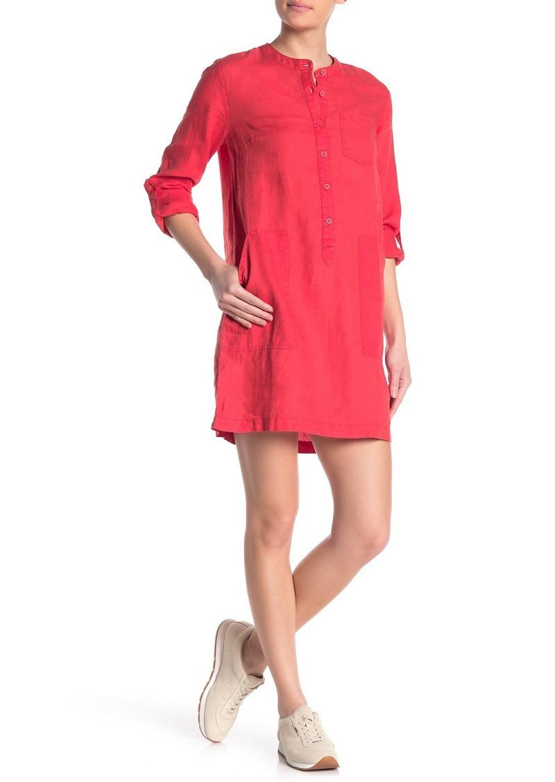 Michael Stars Molly Linen Shirt Dress