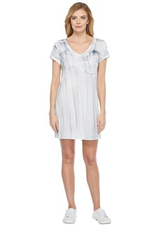Michael Stars Nautical Wash Short Sleeve V-Neck Dress