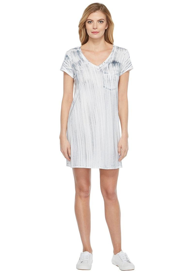 Michael Stars Nautical Wash Short Sleeve V-Neck Dress