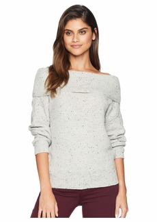 Michael Stars Off the Shoulder Puff Sleeve Pullover