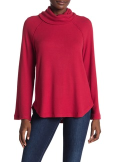 Michael Stars Ribbed Knit Raglan Sleeve Turtleneck
