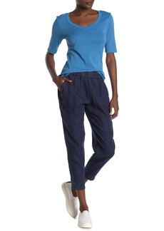 Michael Stars Rima Tapered Linen Crop Pants