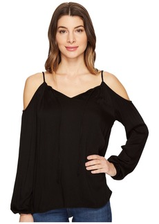 Michael Stars Romy Rayon Cold Shoulder Blouse