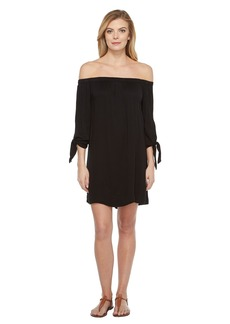 Michael Stars Romy Rayon Off Shoulder Tie Sleeve Dress