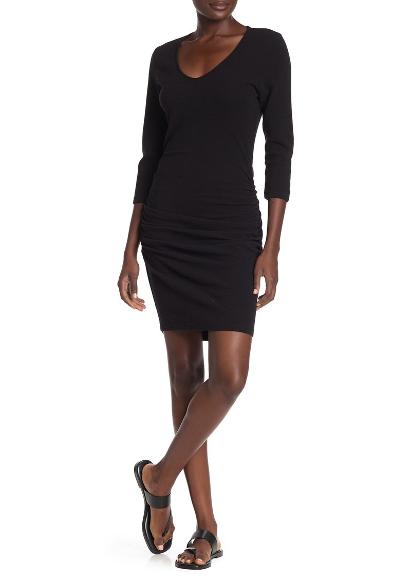 Michael Stars Ruched 3/4 Sleeve Dress