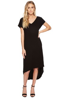 Michael Stars Rylie Rayon Short Sleeve High-Low Dress