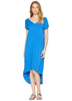 Michael Stars Rylie Rayon Short Sleeve High-Low Dress