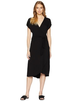 Michael Stars Rylie Rayon Tie Waist Dress