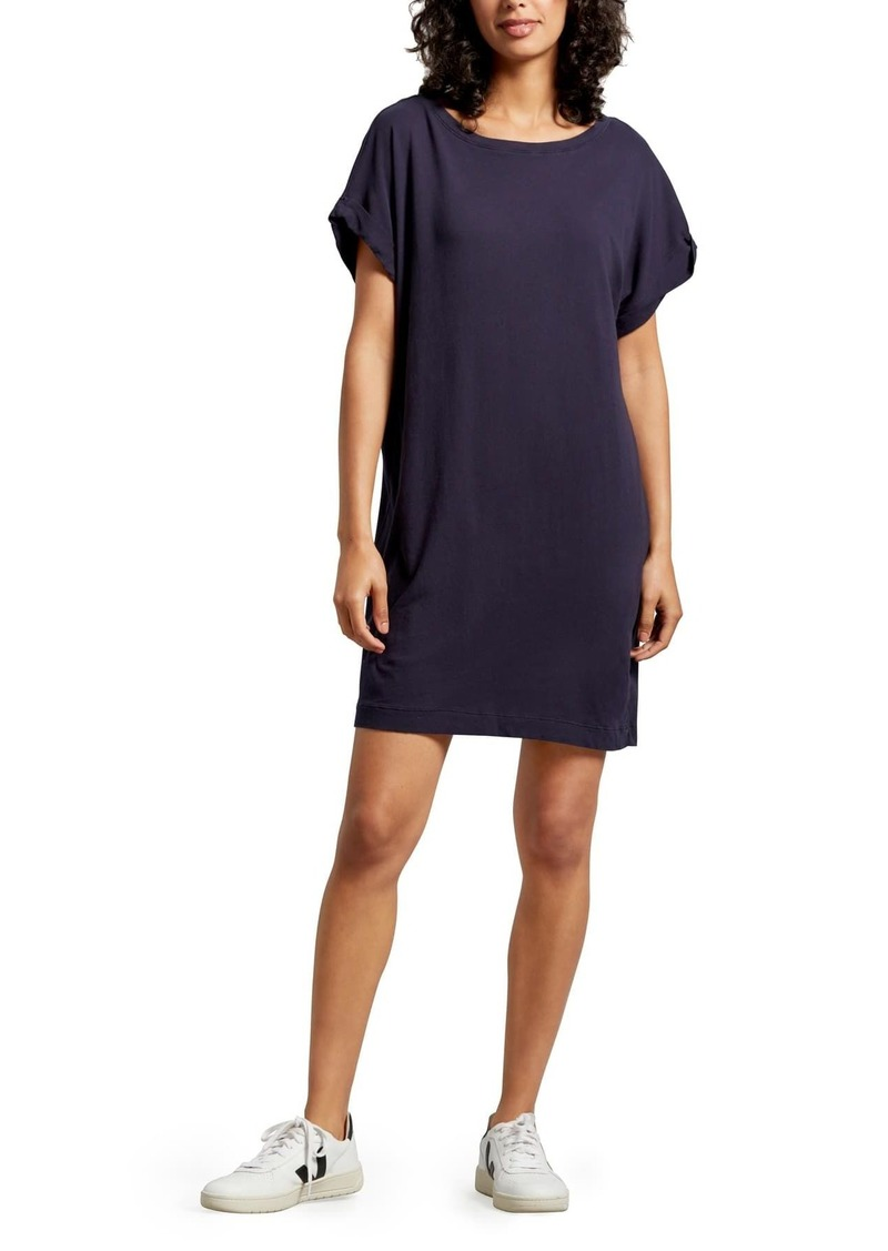 Michael Stars Scarlet Boatneck Cuffed Sleeve T-Shirt Dress