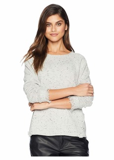 Michael Stars Scoop Neck Pullover with Fringe