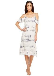 Michael Stars Shibori Print Flounce Sleeve Slip Dress