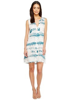 Michael Stars Shibori Print Pleat Front Dress