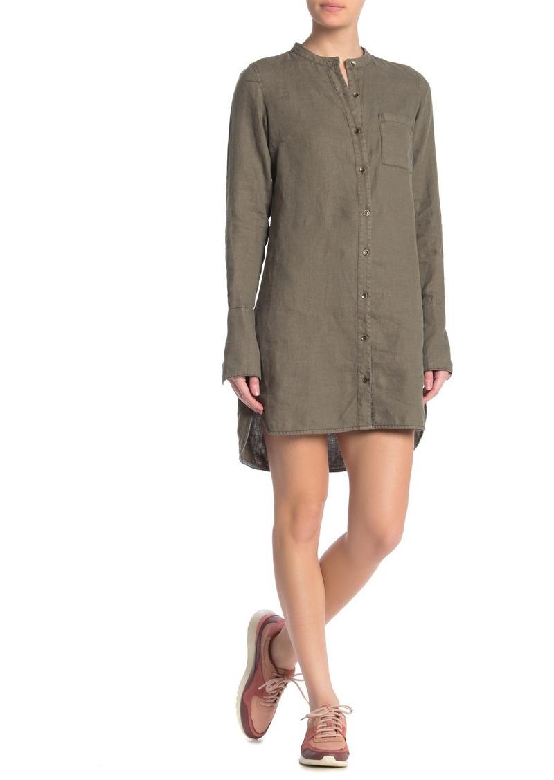 Michael Stars Short Linen Shirt Dress
