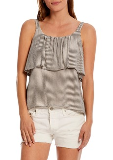 Michael Stars Spencer Striped Ruffle Tank Top
