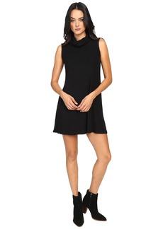 Michael Stars Super Soft Madison Rib Sleeveless Cowl Shift Dress