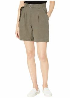 Michael Stars Sybil Woven Linen Bermuda Shorts