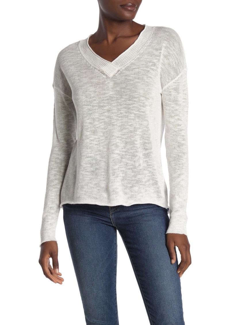 Michael Stars Tami Open Knit V-Neck Sweater