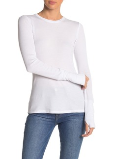 Michael Stars Thermal Crew Neck Long Sleeve Shirt