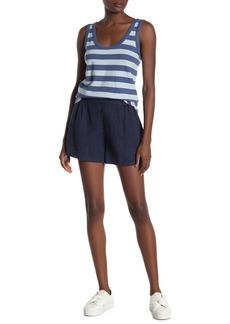 Michael Stars Trisha High Waisted Linen Shorts