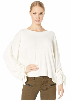 Michael Stars Verona Knits Cecily Crew Neck Pullover Sweater with Adjustable Sleeves