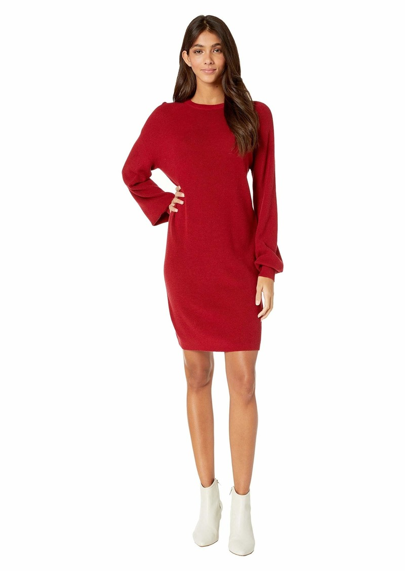 Michael Stars Verona Knits Layla Long Sleeve crew Neck Bishop Sleeve Dress