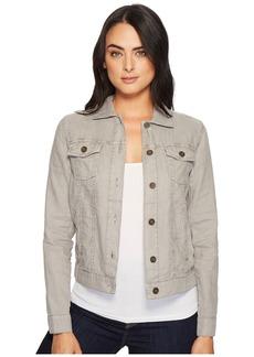 Michael Stars Woven Linen Jean Jacket