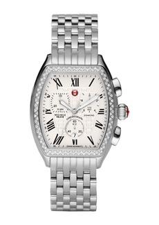 Michele 35mm Relevé Chronograph Diamond Bracelet Watch