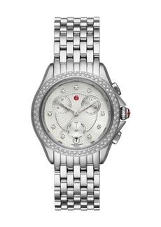 Michele 37mm Belmore Bracelet Chronograph Watch w/ Diamonds