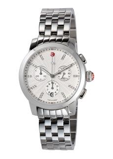 Michele 39mm Uptown Bracelet Watch w/ Diamonds
