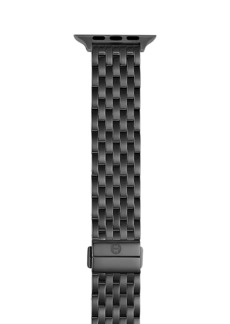 Michele Apple® Watch Black IP Stainless Steel Bracelet Strap/38, 40, 42 & 44MM