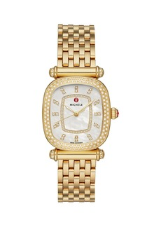 Michele Caber Isle 18K Yellow Gold & Diamond Bracelet Watch
