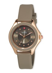 Michele Cape Topaz Watch with Silicone Strap