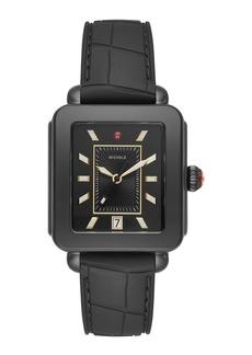 Michele Deco Sport Blackout Watch w/ Silicone Strap