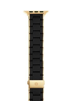 Michele Goldtone Stainless Steel & SIlicone Apple Watch Strap