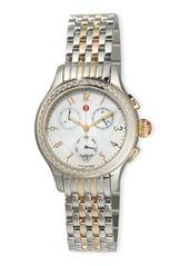 Michele Jetway Two-Tone Diamond Bracelet Watch