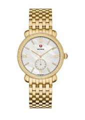 MICHELE 36mm 18k Gracile Bracelet Watch w/ Diamonds