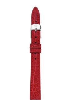 MICHELE Alligator Watch Strap, 12mm