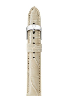 MICHELE Bone Alligator Watch Strap, 16mm